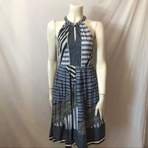 Anthropologie Viola striped 100% cotton dress